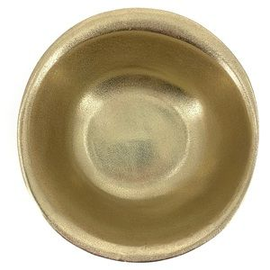 """CRAVINGS by Chrissy Teigen NEW 10"""" Rough Gold Bowl"""